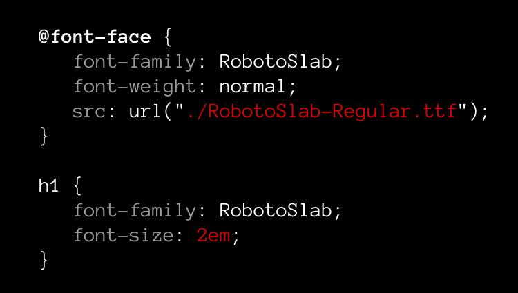 Font embedding